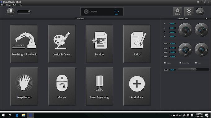 Dobot Studio Home Page