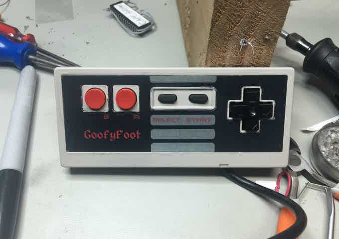 The first modified NES Controller all buttons have been swapped.