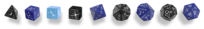 €24 Astronomer's Polyhedral set