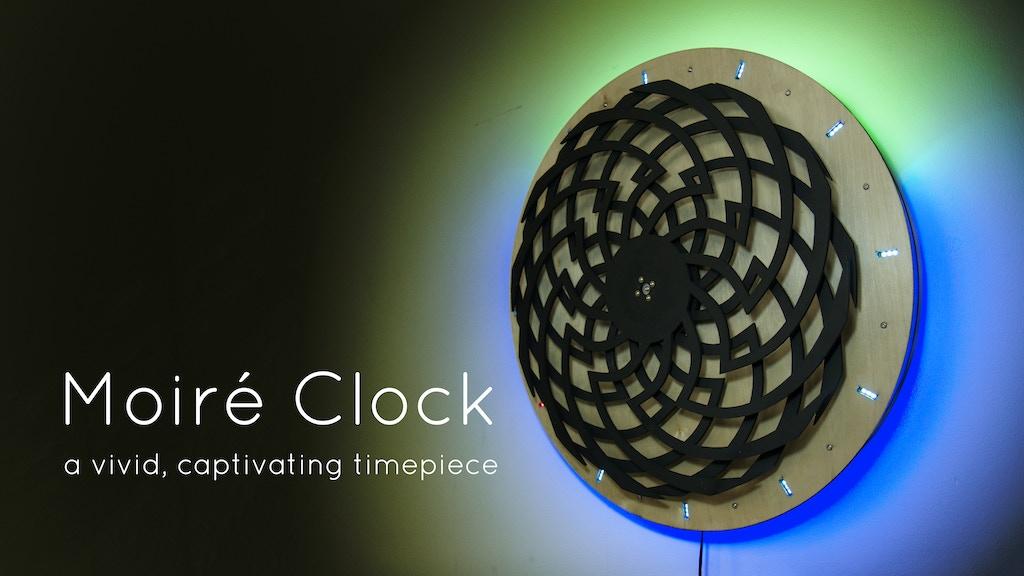 moir clock by emerick varga kickstarter. Black Bedroom Furniture Sets. Home Design Ideas