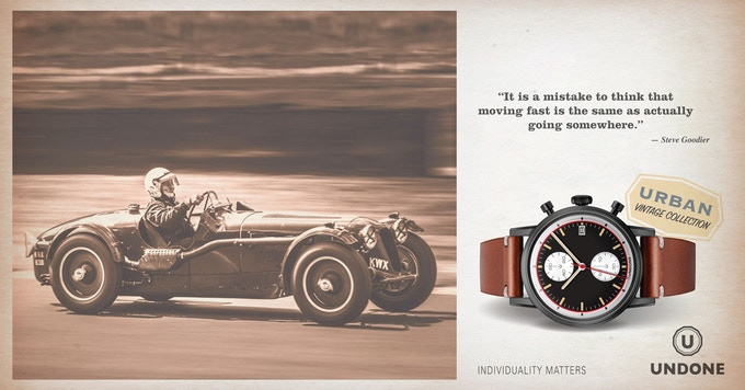 The 'Auta', inspired by the tone of the Heuer Autavia that epitomized the brand's long-time motor racing spirit.