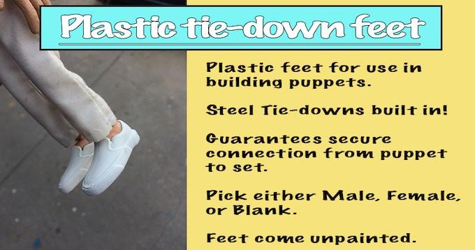 Tie Down Puppet Feet