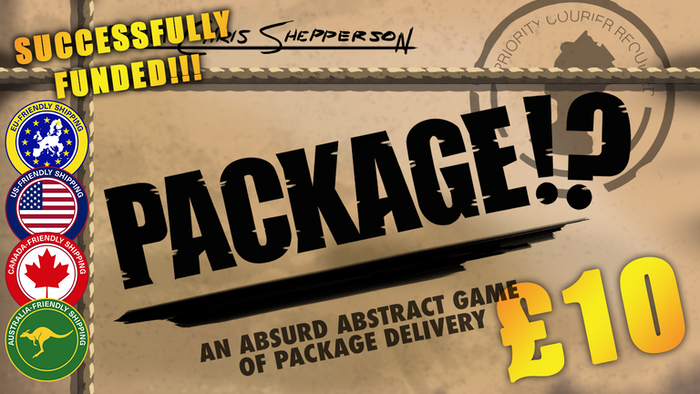 Package!? is a competitive, abstract strategy game, designed with very quick play in mind!