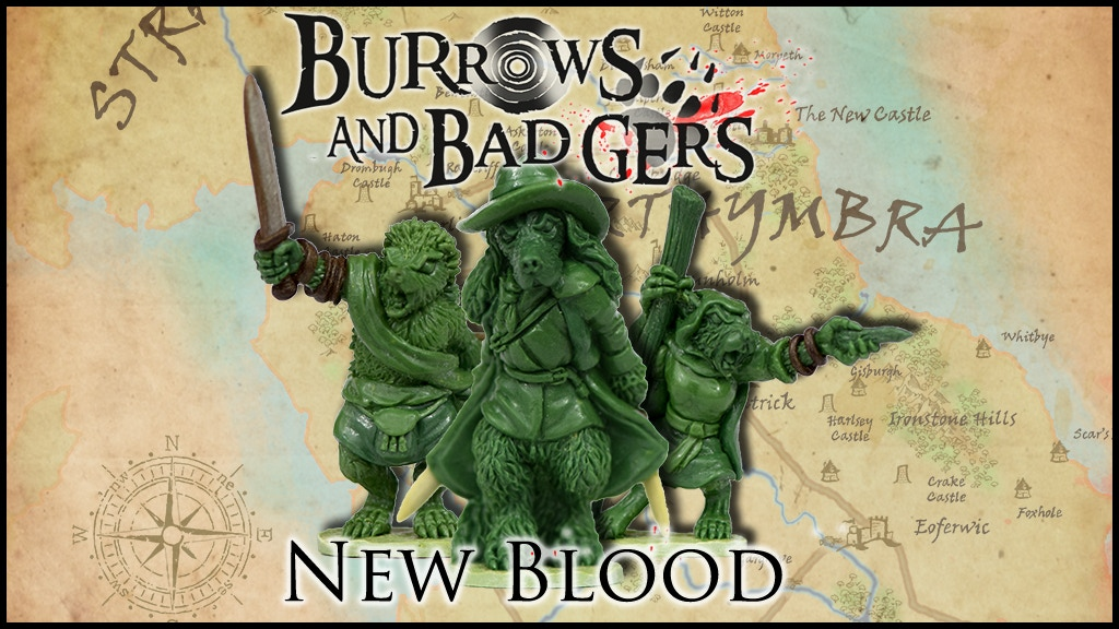 Burrows & Badgers: New Blood. Anthro animal miniatures project video thumbnail