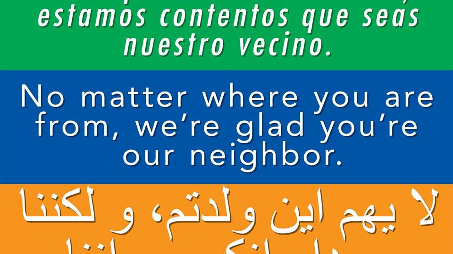 Welcome your neighbors bumper stickers i would like to make