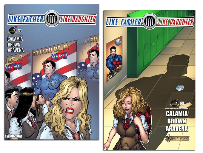 Covers for issue #1 and issue #2