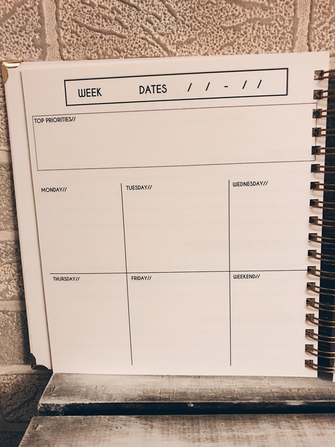 Kickstarter Calendar Planner : Purpose planner make your vision a reality by