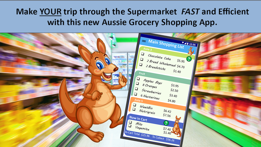 """Project image for """"Just Get Bread?"""" Grocery Shopping App for Australia."""