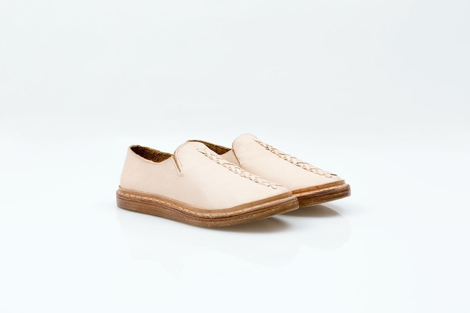 Stitch Lace-up Shoes · Natural goatskin leather with hand-woven braid / Borrego mestizo con trenzado tejido a mano [MX$3500]