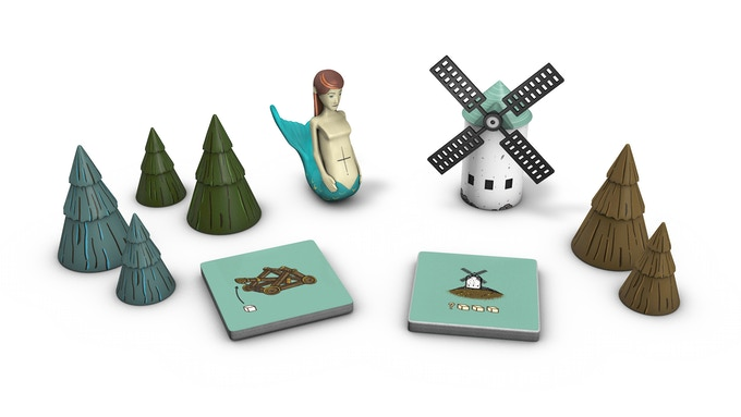 Expansions introduce more pieces like conifer trees, a siren and a spinning windmill!