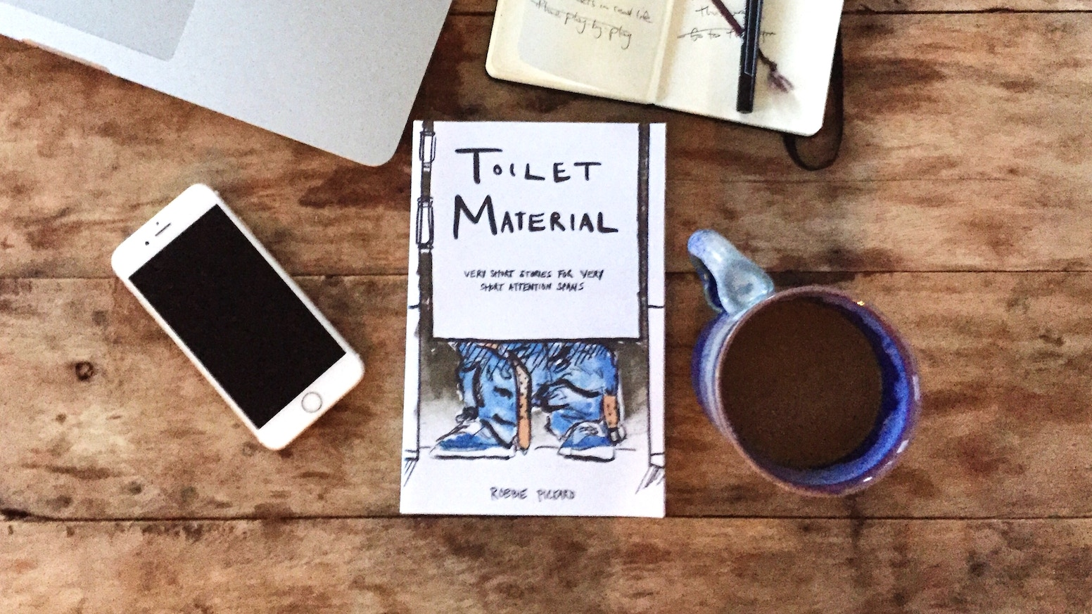 """""""Toilet Material"""" is a paperback book with 40 very hilarious and very short stories – perfect for your very short attention span."""