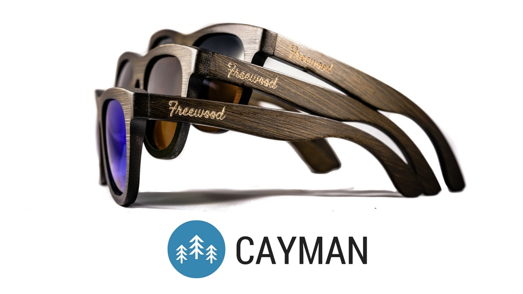 Project image for CAYMAN Polarized Sunglasses by Freewood Co. Eyewear