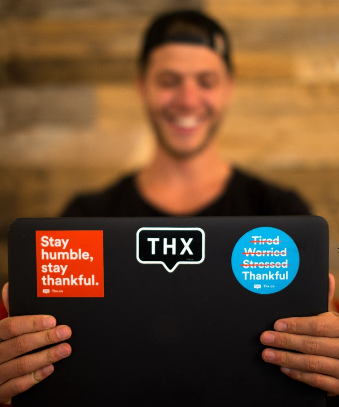 Set of Thankful Stickers