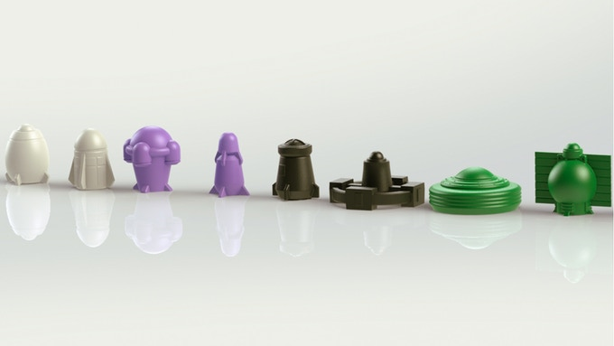 Choose your White, Purple, Black and Green Rockets!