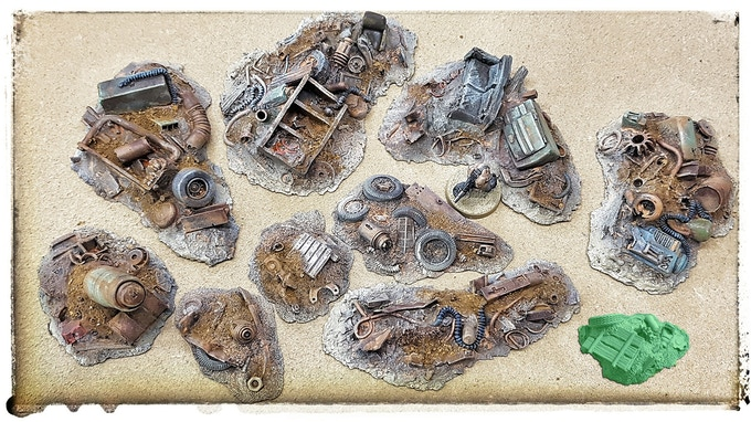 Scrap pile set (35,- €) with unlocked stretchgoal