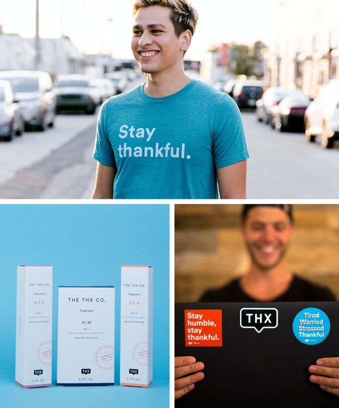 """Stay thankful"" Triblend (Available in Red, Teal, and Grey) + Fragrance + Stickers"