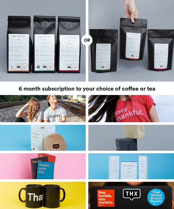 6 Month Subscription of Coffee or Tea + All previous rewards