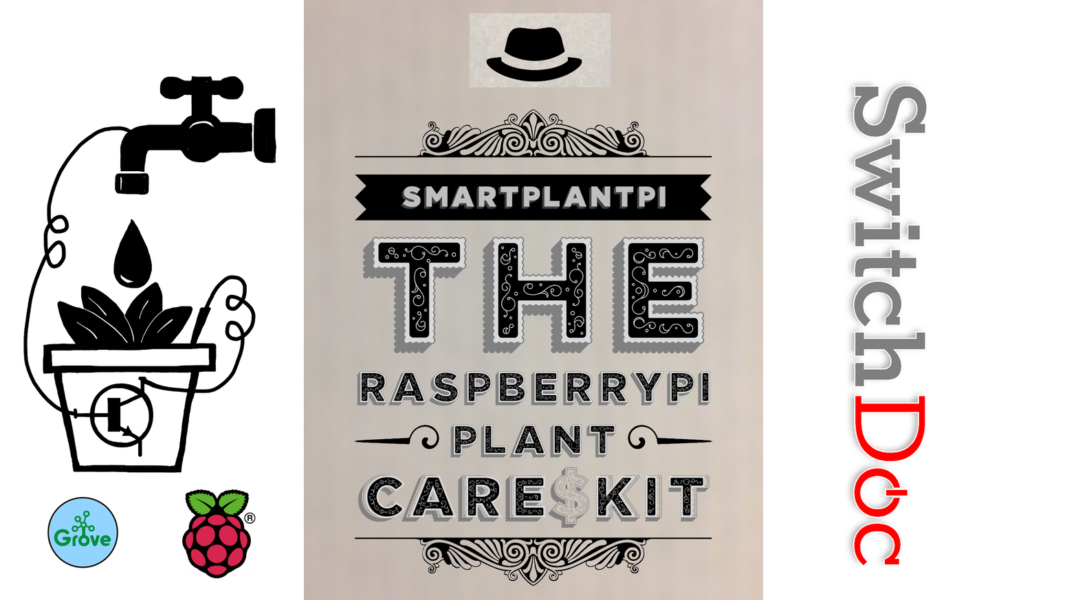 Set up a SmartPlant monitoring system with your Raspberry Pi.   This Kit is designed to teach the technology and requires NO soldering!