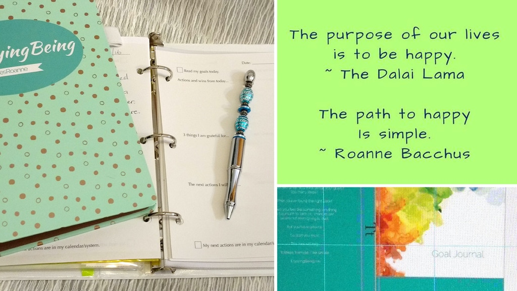 Goal Journal: a simple tool to live happy. #EnjoyingBeing project video thumbnail
