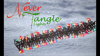 Never Tangle Lights - the cure for tangled holiday lights!