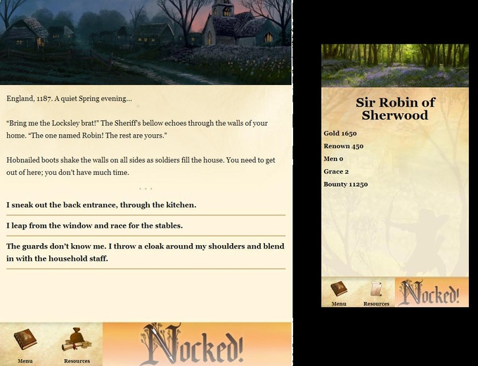 Nocked on iPad and iPhone - Alpha Build
