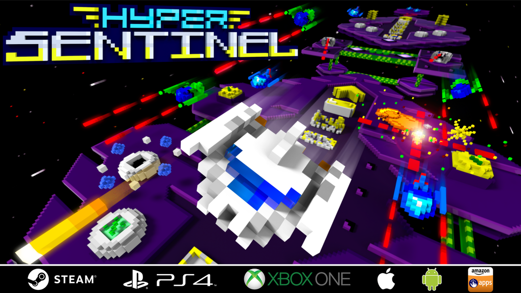 Hyper Sentinel - a retro inspired arcade shoot 'em up project video thumbnail