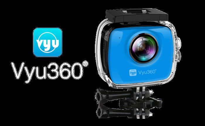 Vyu360® 4K VR Plus, a virtual reality action camera + 3D Dream VR Viewer. 120 Min Battery Life, 32GB Memory (upto 64GB), 90 Feet Underwater Case.
