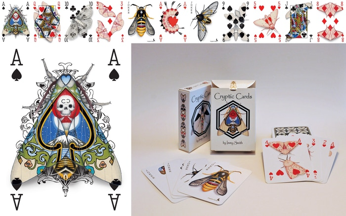 What would happen if, after thousands of years, moths evolved cryptic patterns to mimic human-made materials? Perhaps this playing card deck! Thanks to 250 wonderful backers, this deck has come to life!