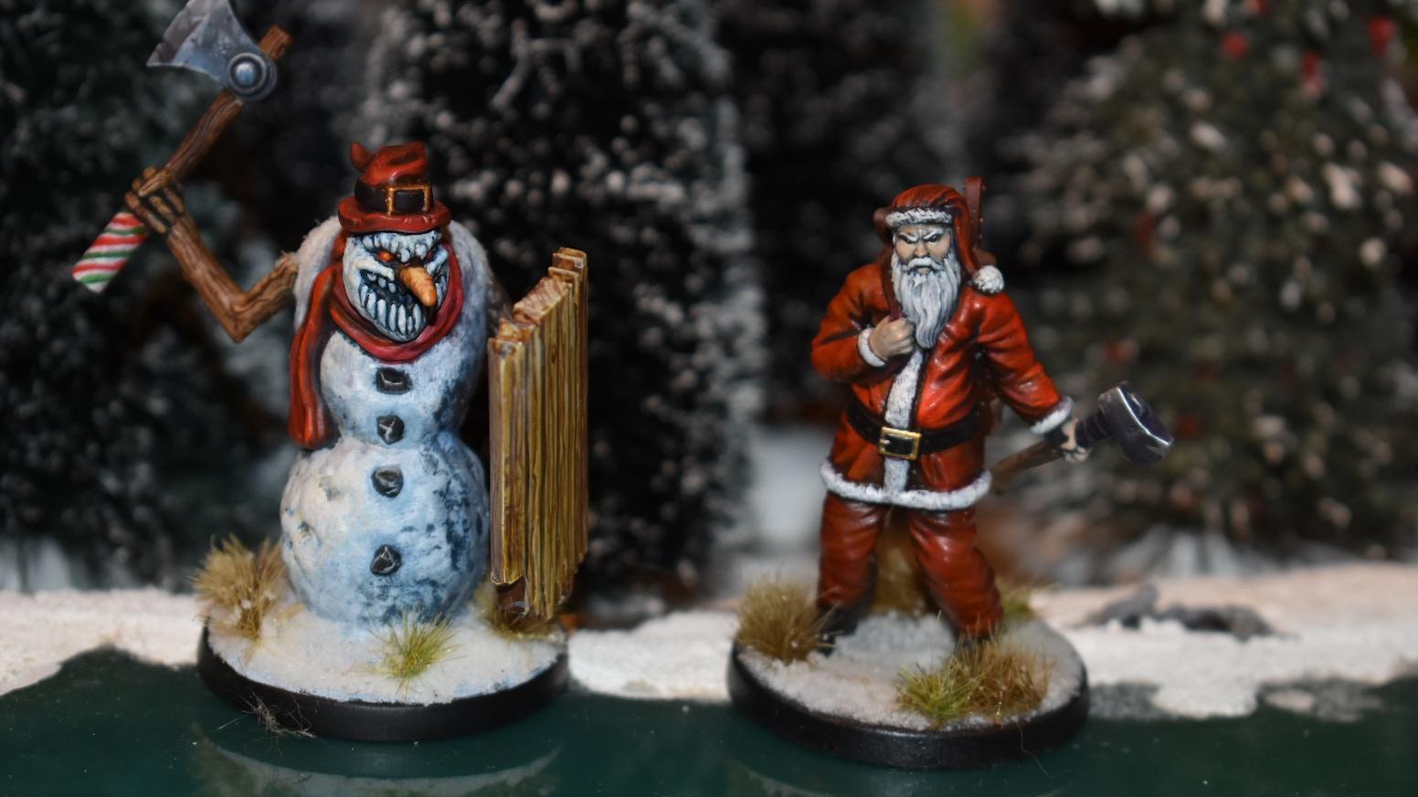 Christmas Miniatures.War In Christmas Village By Jackalope Kickstarter