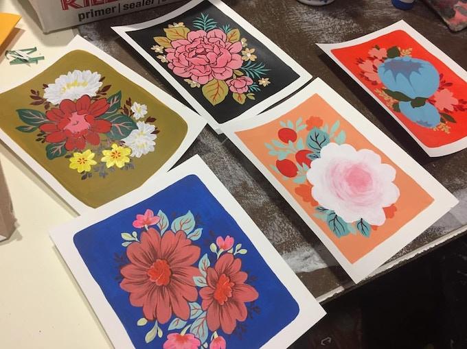 Postcards in progress by Ouizi, $20 reward