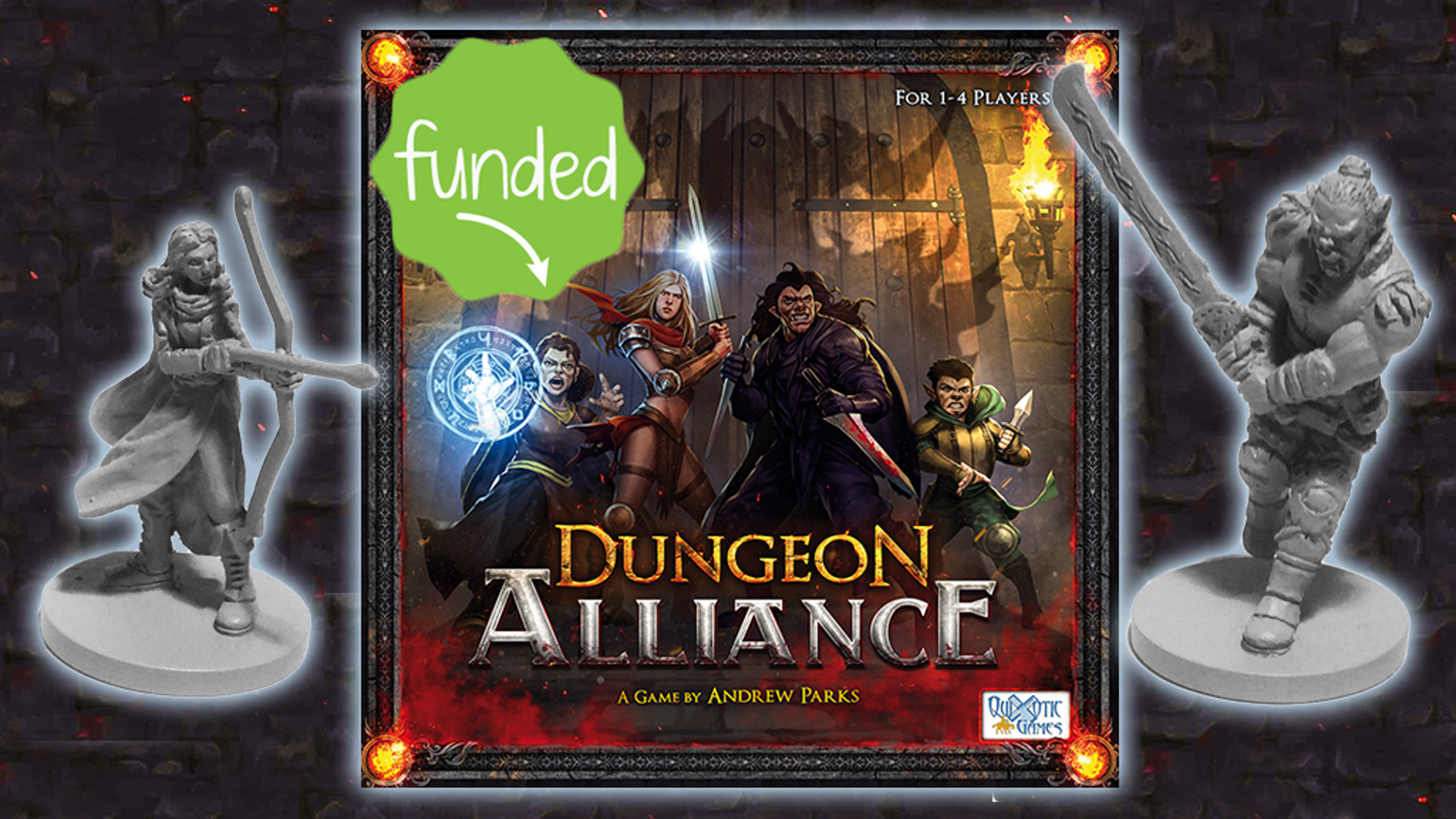 Dungeon Alliance is a deck-building, dungeon-crawling miniatures adventure game. Play competitive, cooperative, or solo!
