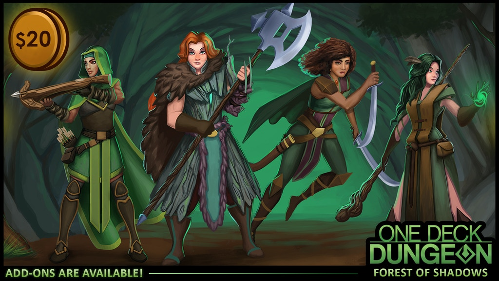 One Deck Dungeon: Forest of Shadows project video thumbnail