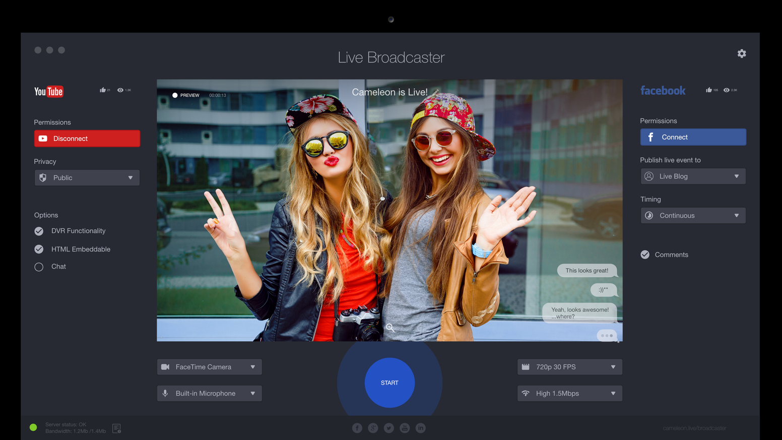 Live streaming app for iphone broadcaster software macpc by create amazing facebook live videos broadcast live to youtube and more free live streaming stopboris Images