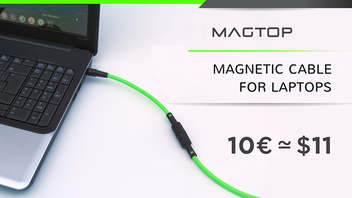 MAGTOP : Magnetic Power Cable | Protect your Laptop