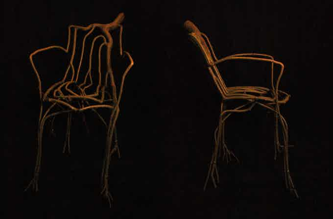 Our Prototype Willow Armchair - This piece is a Kickstarter exclusive, and only one will be given as a pledge reward