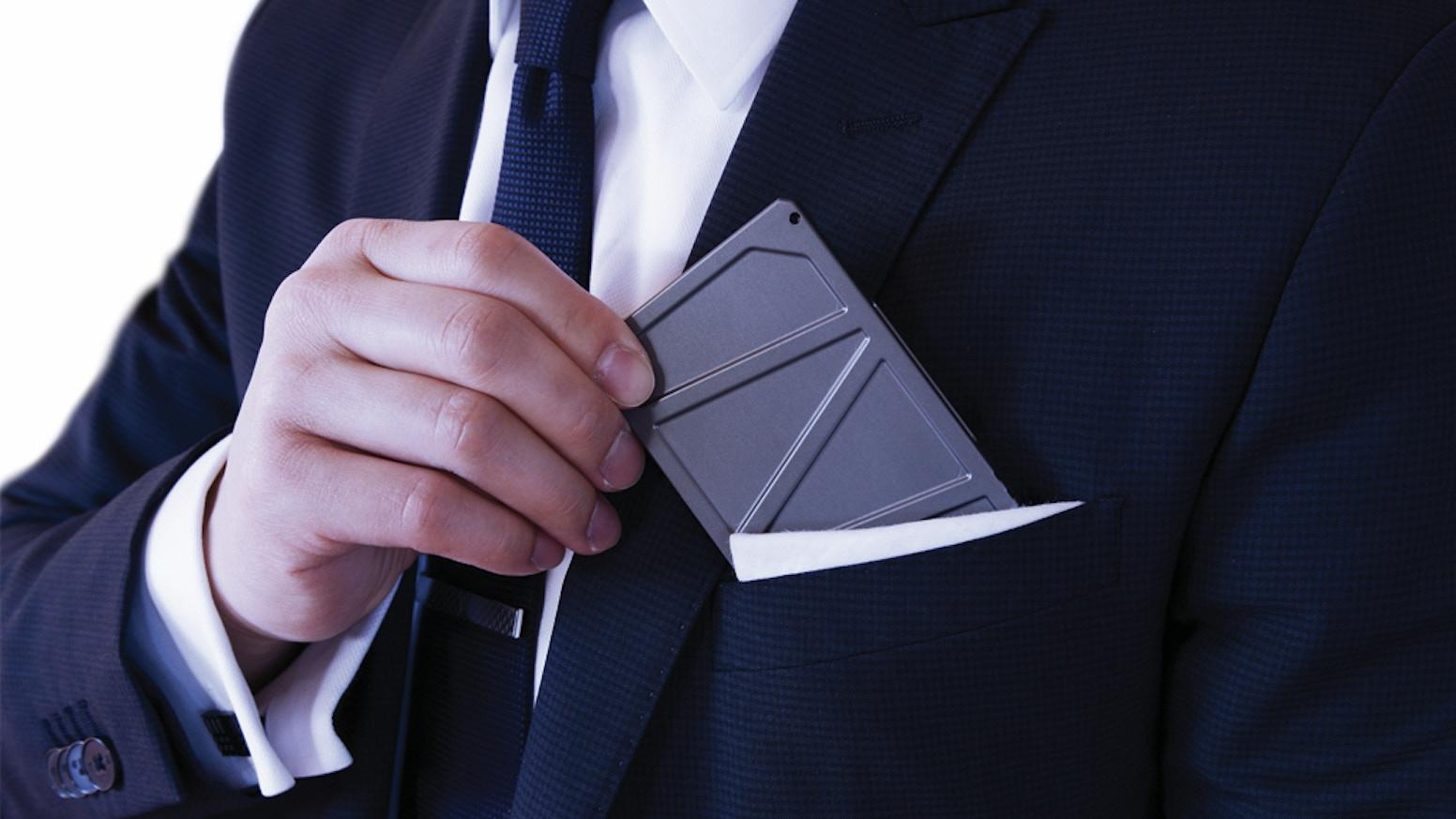 Titan A Gentlemans Business Card Holder Minimalist Wallet By