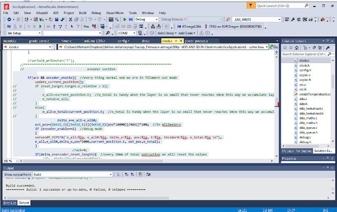 Development of firmware for ATMEGA128 in Atmel Studio