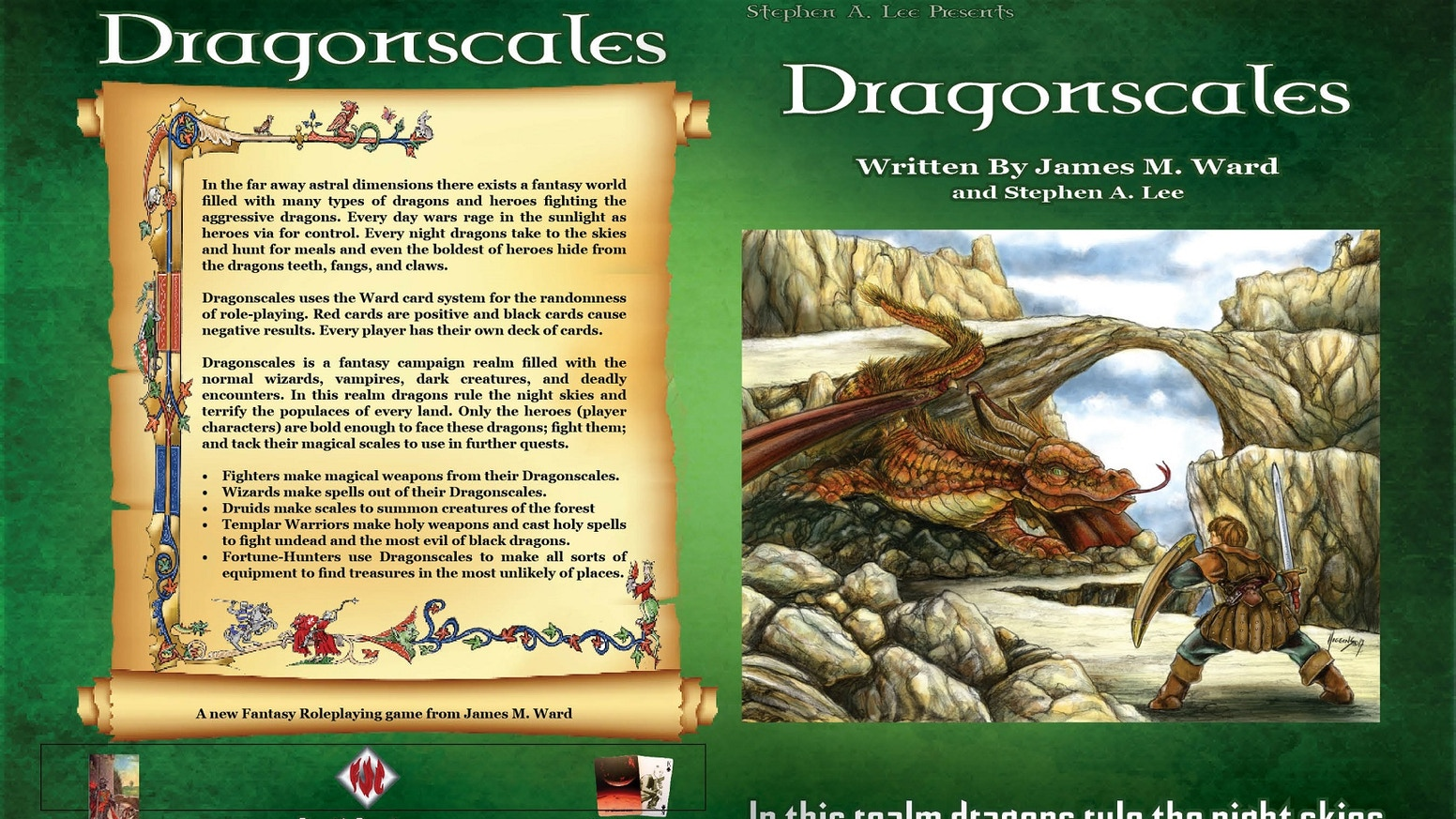 A new Fantasy RPG based on James M Wards Card System. Explore the Chromatic Kingdoms, the City of Concord, and the great Rift Canyon.
