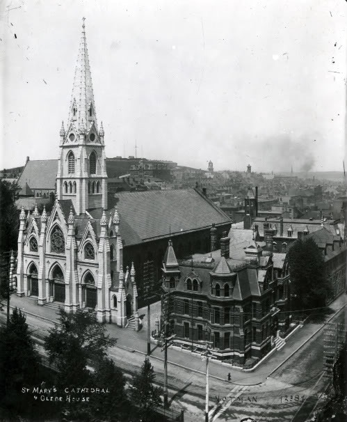 "The mural ""Trinity 1981"" was painted in the Parish Hall of this magnificent edifice, (St. Mary's Basilica) in Halifax."