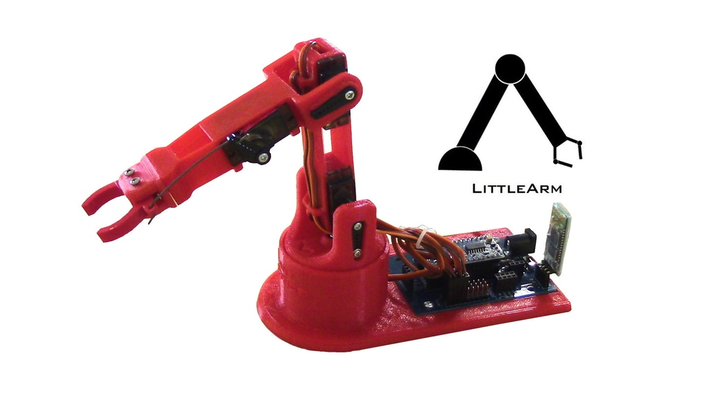LittleArm 2C - Mini Arduino Robot Arm for STEM and Hobby project video thumbnail