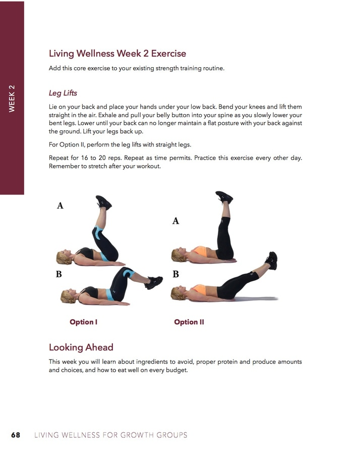 Every week you get a new exercise to practice. By the end of the book, you have completed a full-body workout!