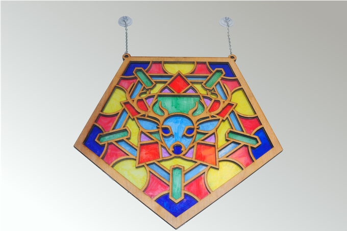 Stoicheia [ELEMENTS] Digital Stained Glass Art Installation By Best Lighted Display Stand For Glass Art