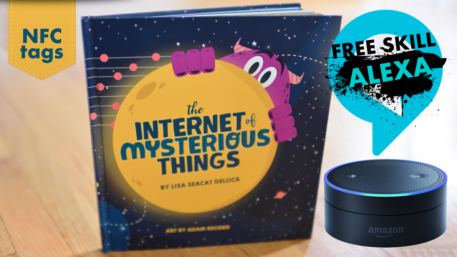 A children's book with a touch of technology. Living, NFC-enabled book about the Internet of Things (IoT).