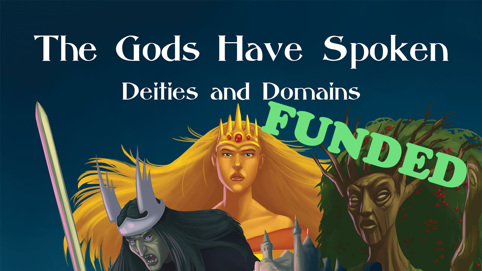 Twenty-eight new fantasy gods arranged in three new pantheons for your 5E game.  New domains and player options that fit the gods.