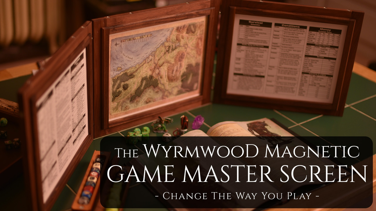 From Wyrmwood: a GM Screen that will change the way you play your favorite roleplaying games. It is the only screen you'll ever need.