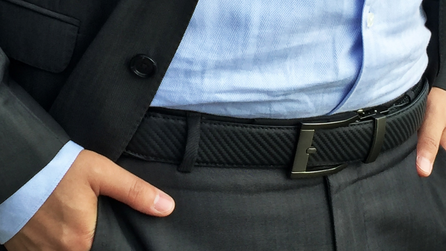 The world's most comfortable belt that gives you extra stretch while needed.