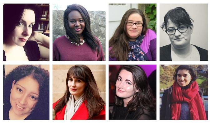 [L-R] Jen McGregor, Joelle Owusu, Jona Kottler, Kaite Welsh, Katie Muriel, Laura Waddell, Mel Reeve, Zeba Talkhani