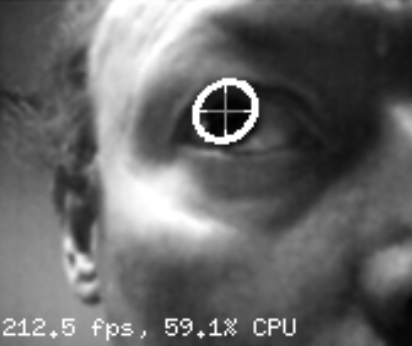 120Hz eye tracking (camera streams at 120 fps, processing runs at 200+ fps)