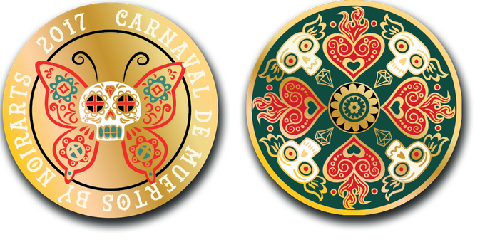 Alheli colored coin (24K golden plated with 4 inks. Only 30 coins will be manufactured)