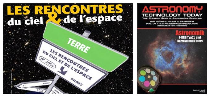 AstroPiBox a étè présentée aux Rencontres du Ciel et de l'Espace et dans Astronomy Technology Today